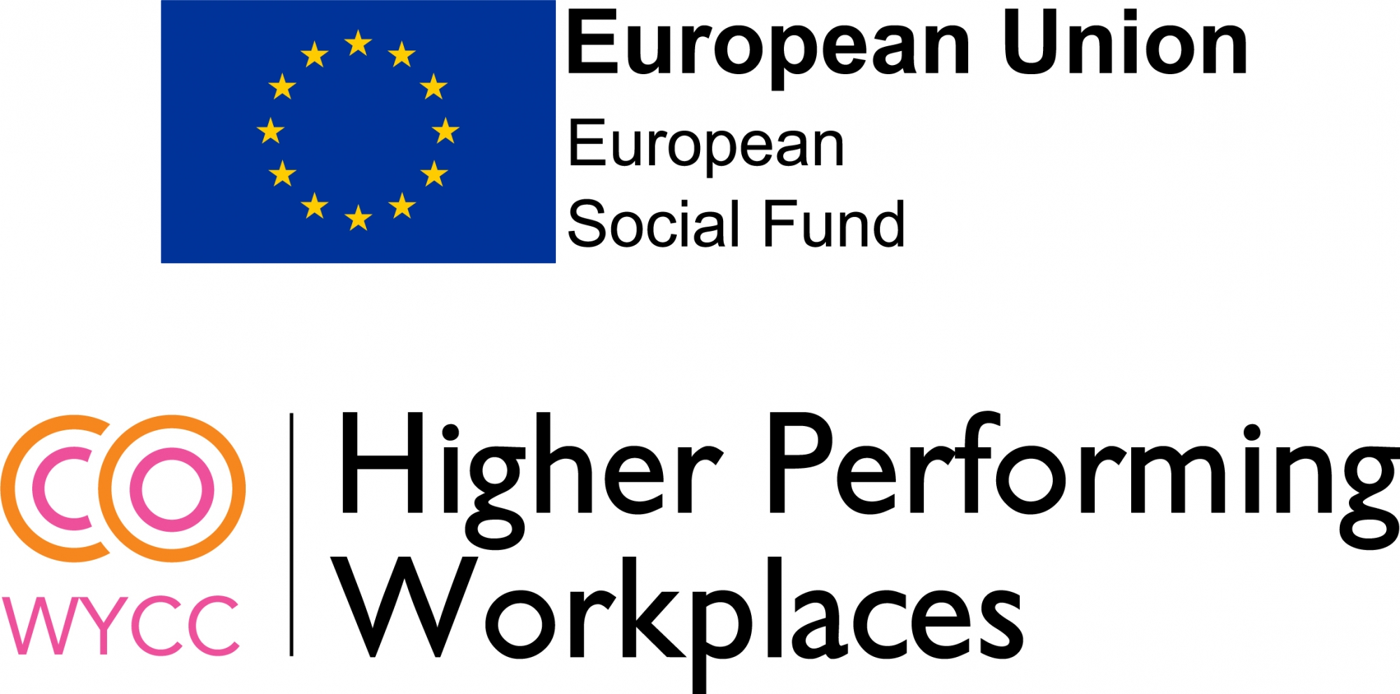Higher Performing Workplaces and European Social Fund Logos