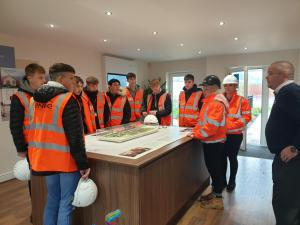 Construction students visit the new Lifestyle site by Engie!