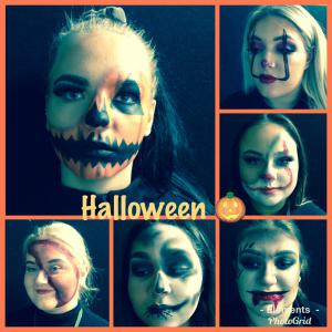Getting spooky with our Hair and Beauty students!
